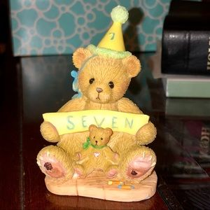 🐻🎂Cherished Teddies 'Sign Says...You're Seven!'